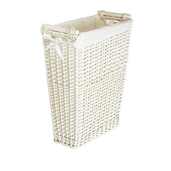 White Slimline Laundry Basket Slim Laundry Basket Laundry