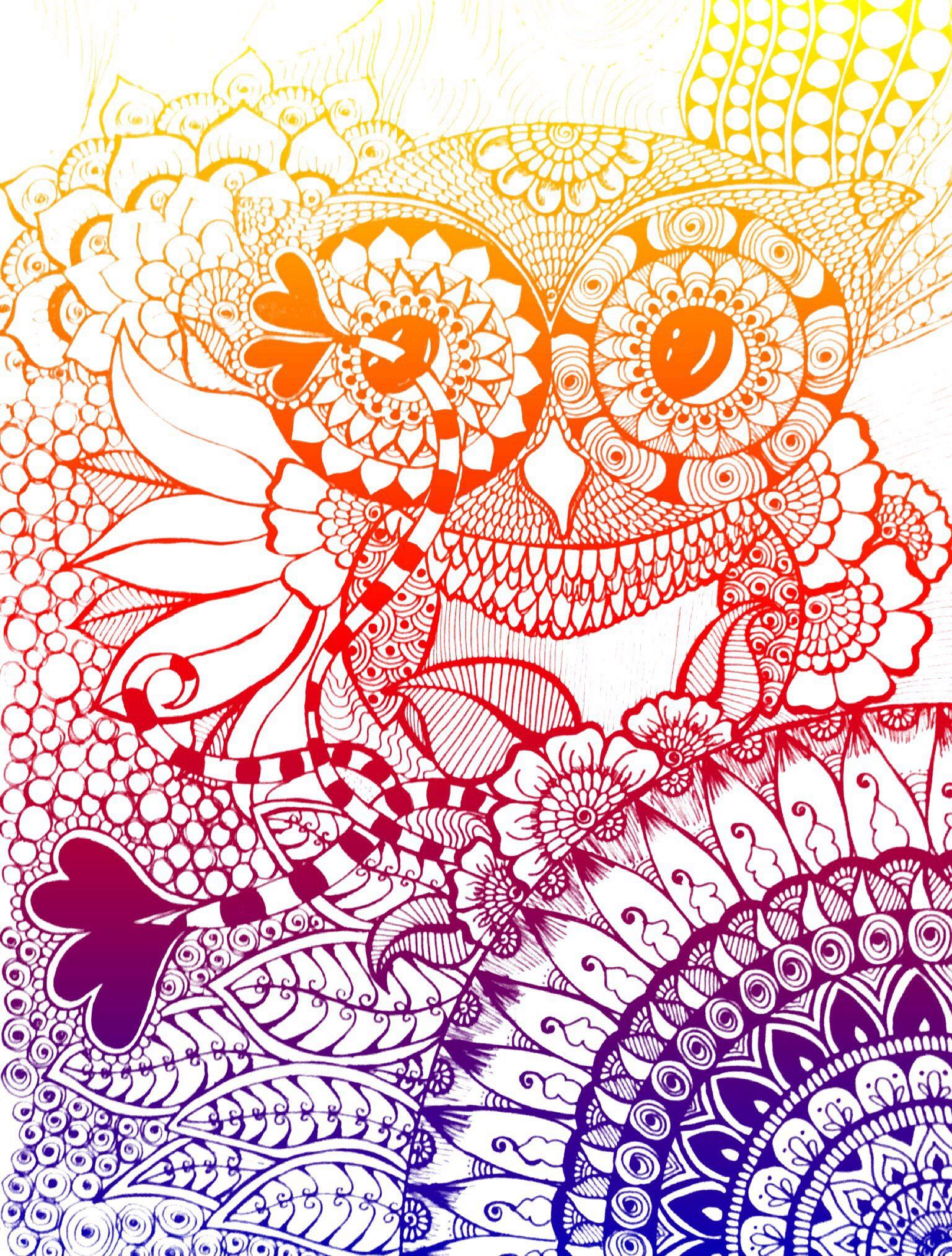 Owl, mandala