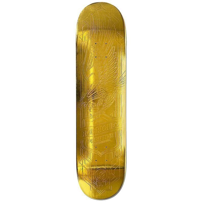 Primitive Rodriguez Gold Foil Eagle 8 38 Deck Only Width 8 38 21 3cm Skateboard Decks For Sale Gold Eagle Skateboard Decks
