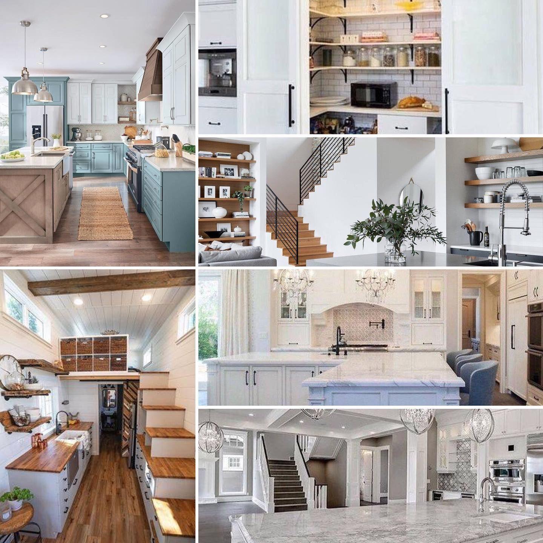 مجموعة من تصميمات المطابخ الانيقة بألوان فاتحة ومواد انهاء تتنوع مابين الخشب والمرمر والخشب الصناعي والطلاء Home Decor Home Decor