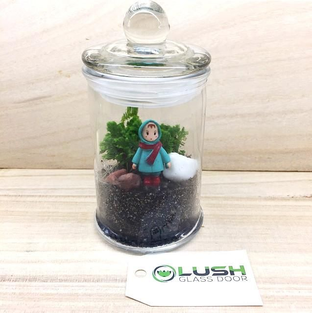 Ready Made Winter Girl Themed Moss Terrarium By Lush Glass Door Singapore A Mini Garden In Visit S One Stop