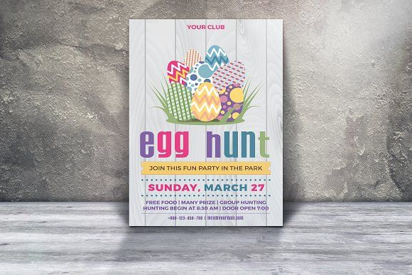 Easter Party Invitation Flyer Flyer Template And Template