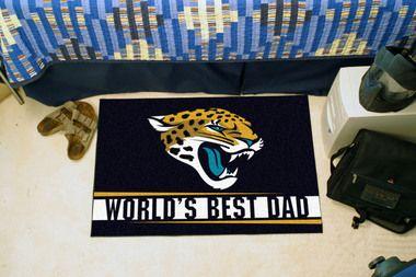 """Jacksonville Jaguars World's Best Dad Starter Area Rug Floor Mat 20"""""""" X 30"""""""""""