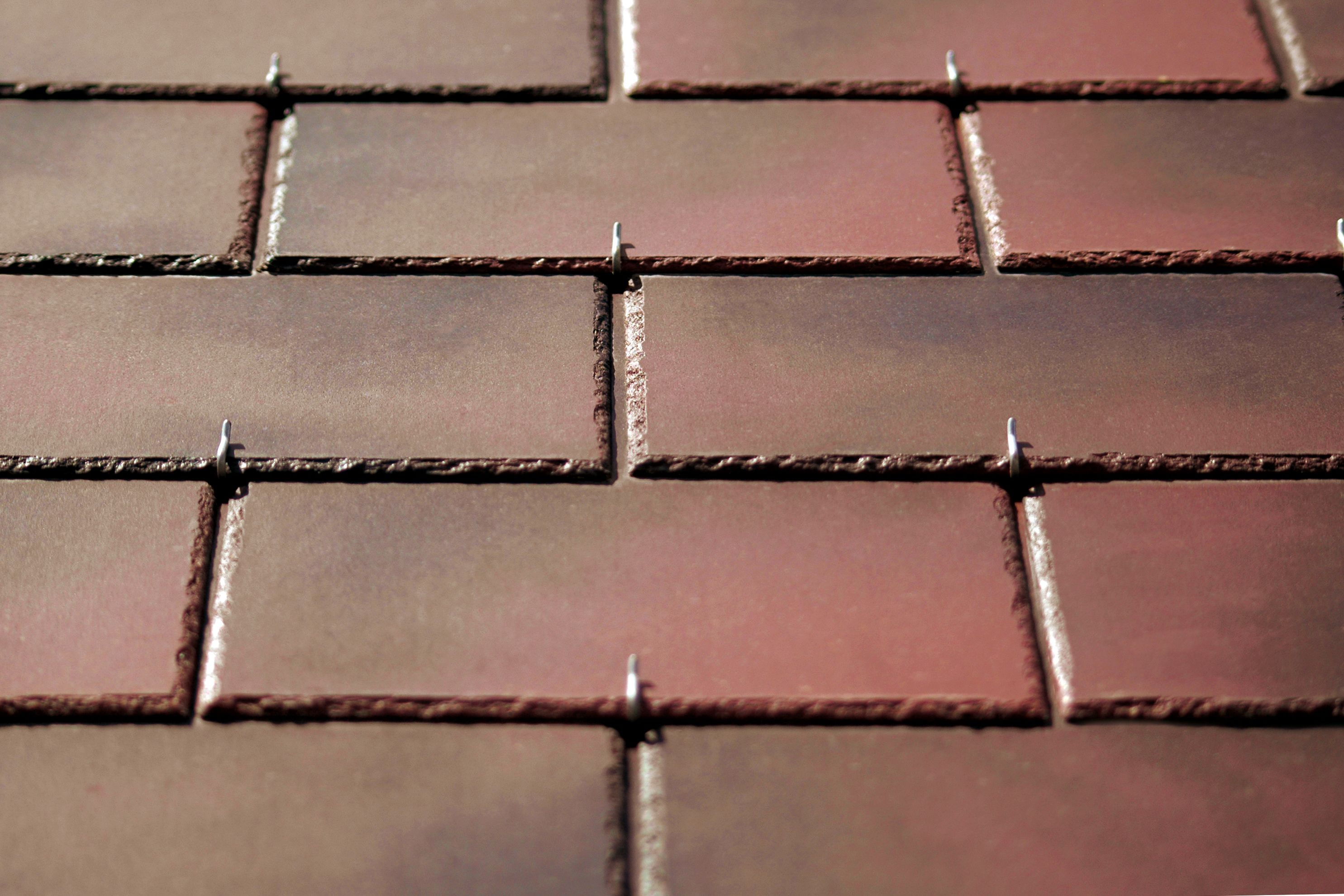 Flame brown birkdale slates down to 15 degrees fibre for Fiber cement composite roofing slate style