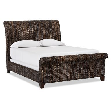 Seagrass Sleigh Bed Furniture Sleigh Beds