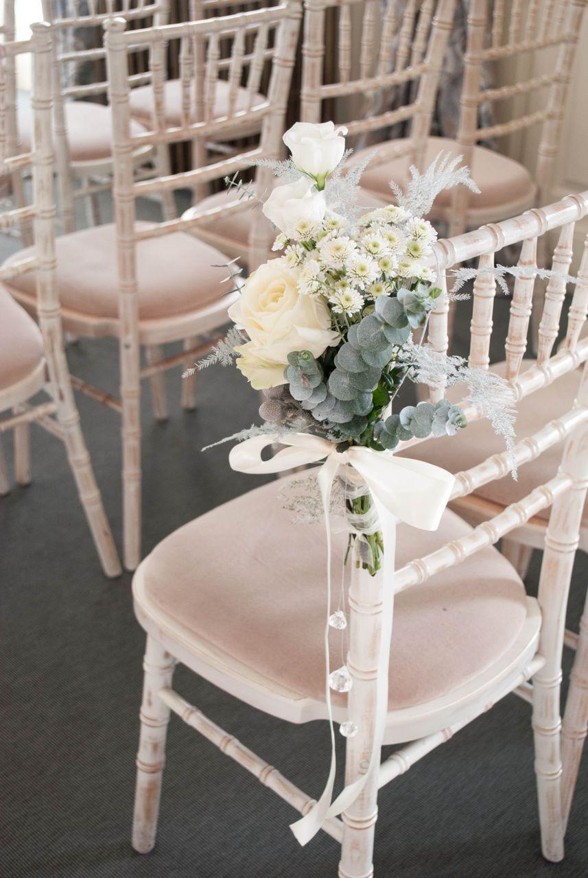 Wedding ceremony chair - Ceremony Chair Flowers Winter Wedding Flowers Aisle Decoration Flowers By Laurel Weddings
