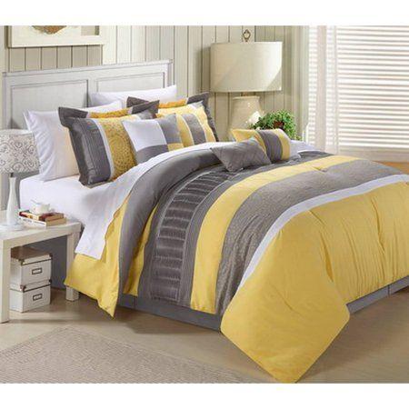 Photo of Chic Home Euphrasia 8-Piece Bedding Comforter Set, Yellow