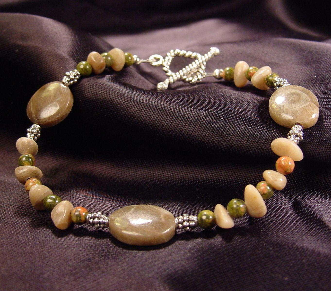 Pretty Petoskey Stone Bracelet Jewelry Fun