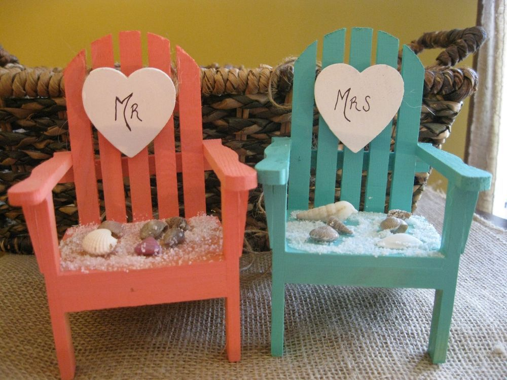 Adirondack Chair Beach Theme Cake Topper in Choice of Color