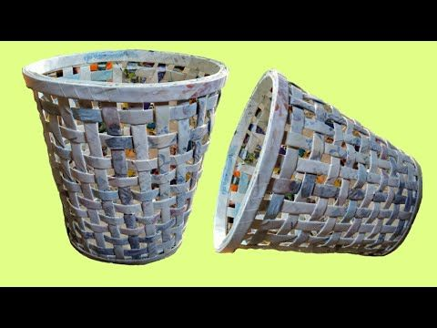 How To Make Diy Decorative Paper Basket With News Paper Best Out