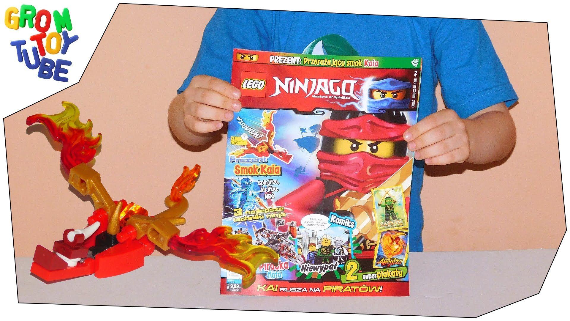 Unboxing New Lego Ninjago Magazine 5 2016 With Kai S Dragon With