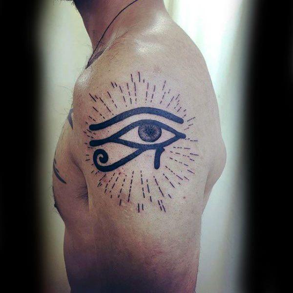 50 Eye Of Horus Tattoo Designs For Men Egyptian Hieroglyph Ink Horus Tattoo 3rd Eye Tattoo Tattoos