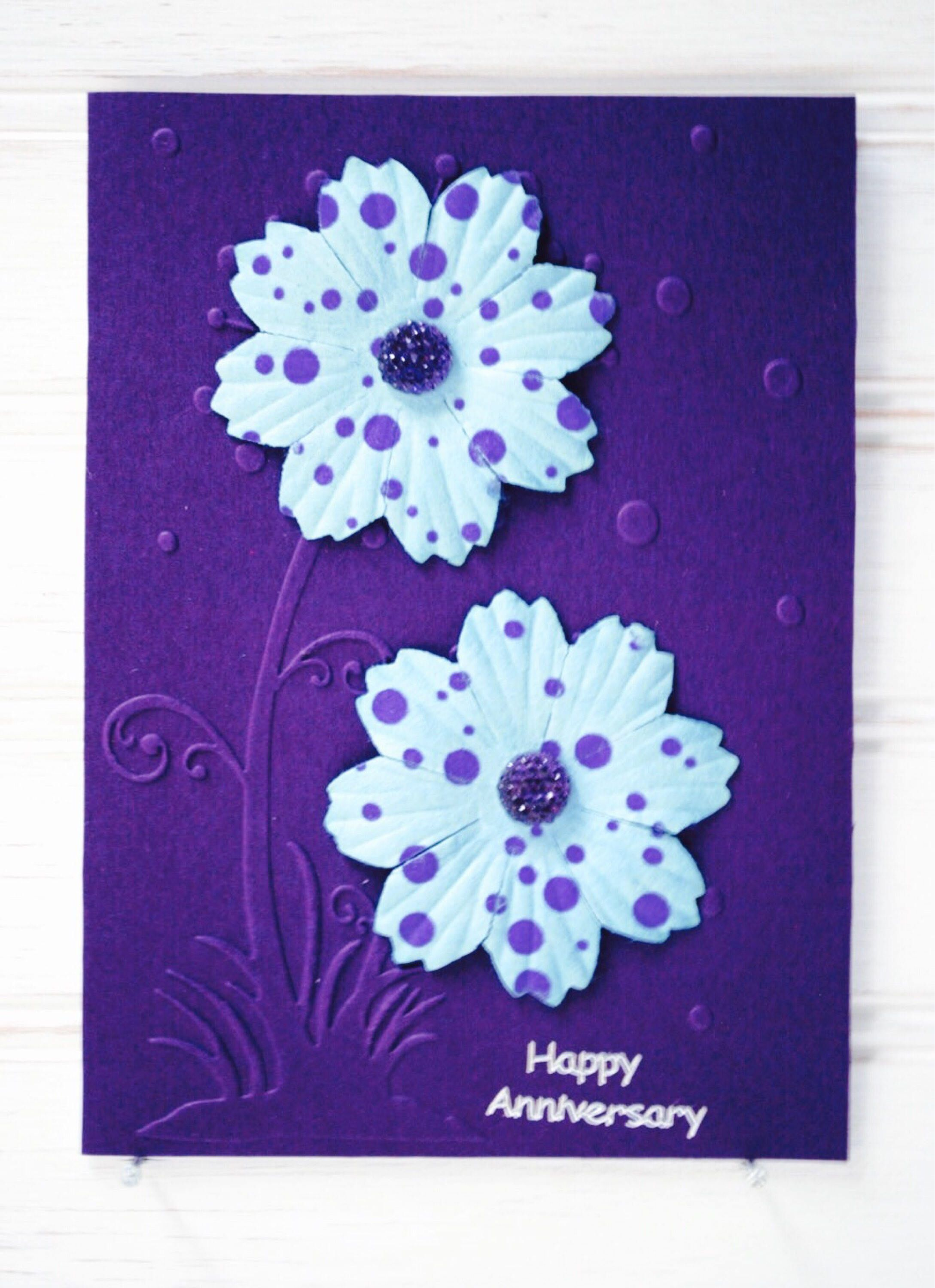 anniversary greeting card unique handmade happy anniversary card rh pinterest com