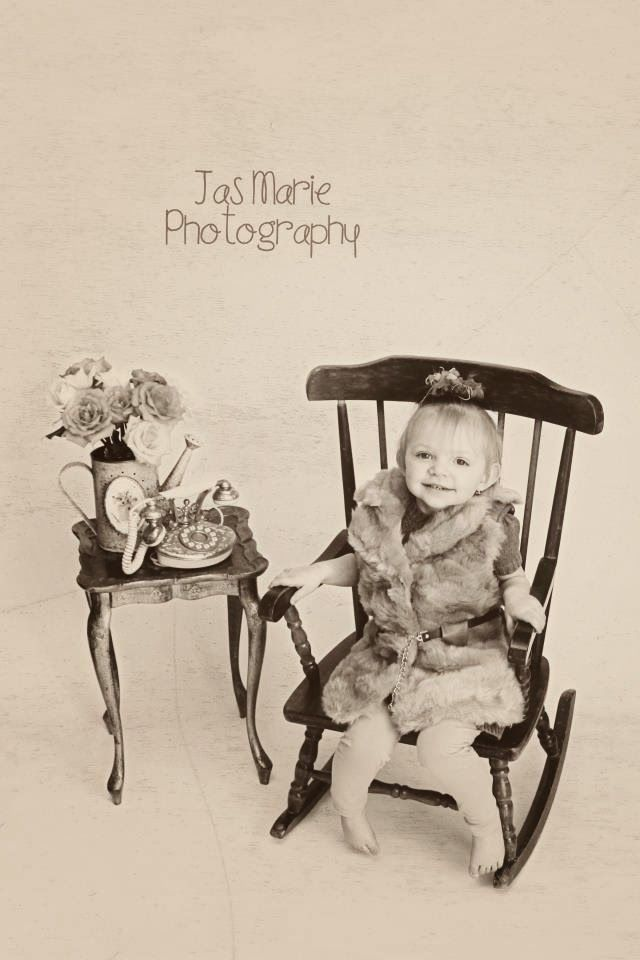 Jas Marie Photography; child photography; rocking chair; old phone prop; mini session; stylized session