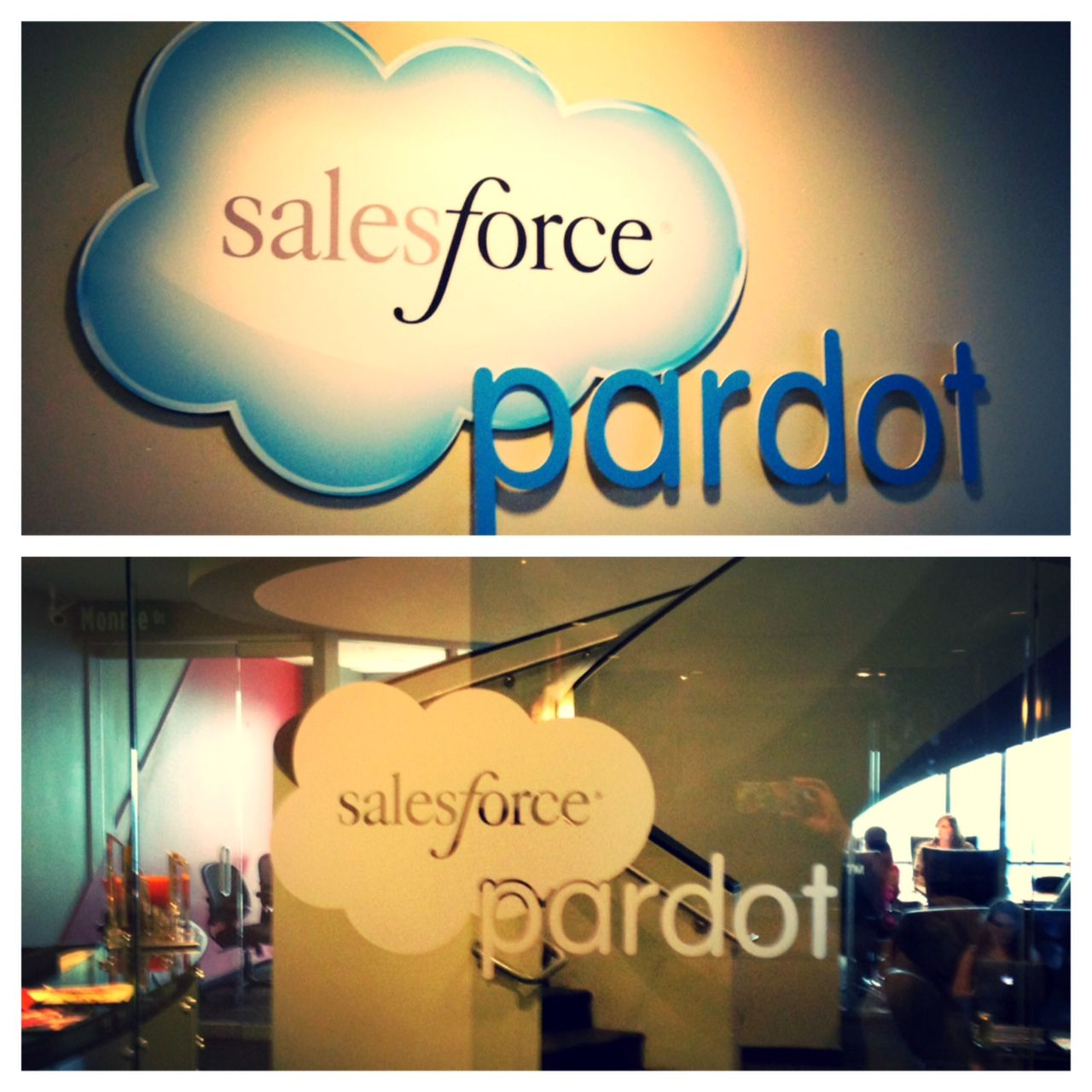 Rebranding continues in the Pardot office! Check out our new door and lobby decor.