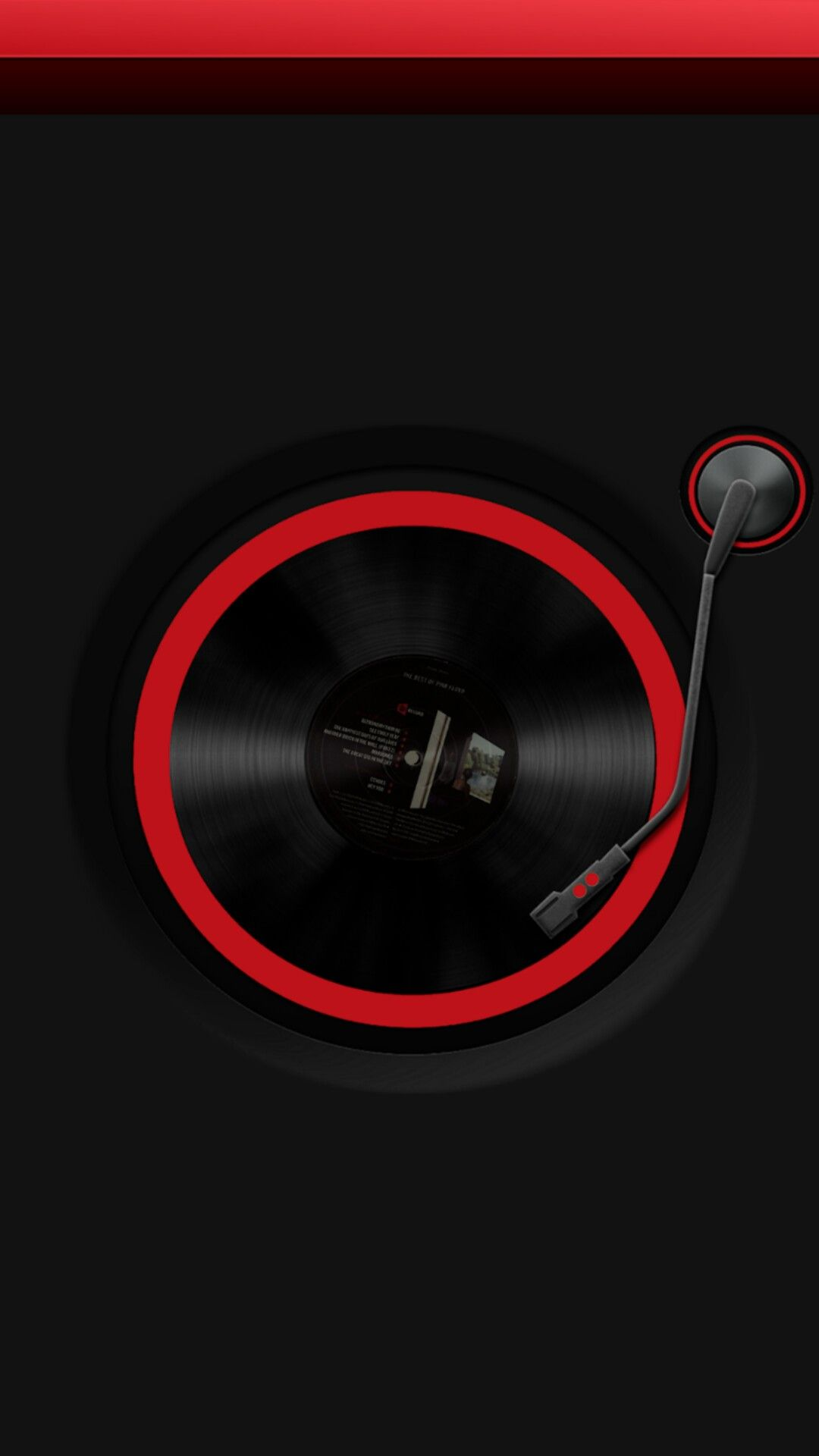 Red And Black Record Wallpaper