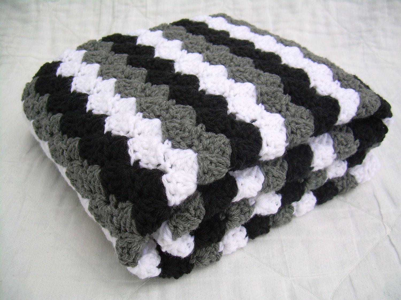 Crochet Baby Blanket Baby Blanket Crochet Grey Baby Blanket Etsy Modern Crochet Blanket Baby Blanket Crochet Crochet Baby