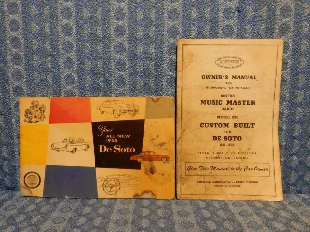 1955 Desoto Original Car Owners Manual Including Music Master Radio Desoto Car Owners Manuals Owners Manuals Radio