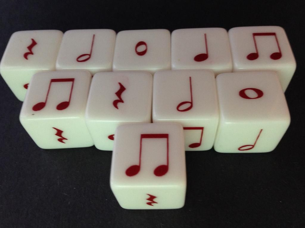 This Is A Set Of 10 Notes Each Dice Contains Rhythm
