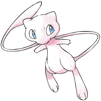 Mew From The Official Artwork Set For Pokemon Crystal On The Game Boy Color Http Www Pokemondungeon Mew And Mewtwo Pokemon Disney Princess Coloring Pages