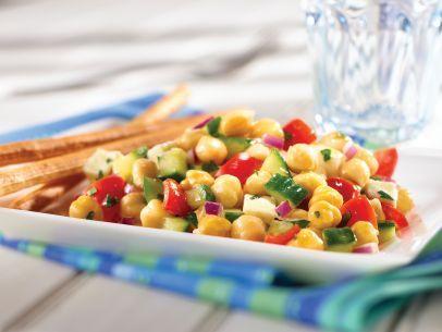 Mediterranean Chickpea Salad Recipe : Food Network