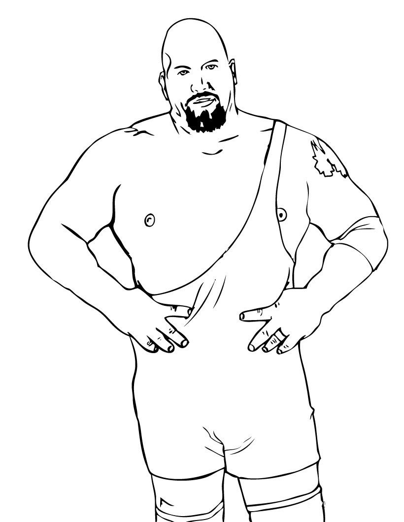 Wwe coloring games online - Coloring Pages Of Wwe