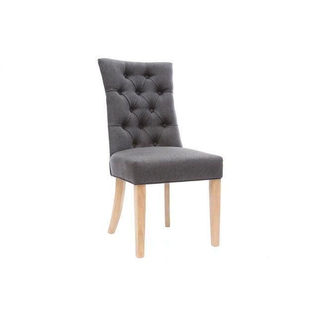 Chaise classique tissu pied bois VOLTAIRE new home Pinterest