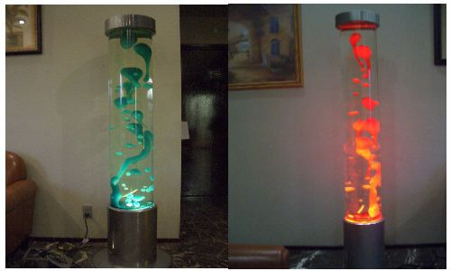 Attractive Giant Lava Lamp | Giant Lava Lamp, Blue Glass Sconce, Lamp Shades For Floor