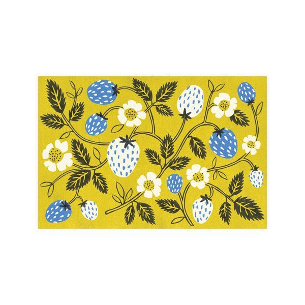 I found this on www.fawnsberg.com // Strawberry cards // #giftcards #notecards