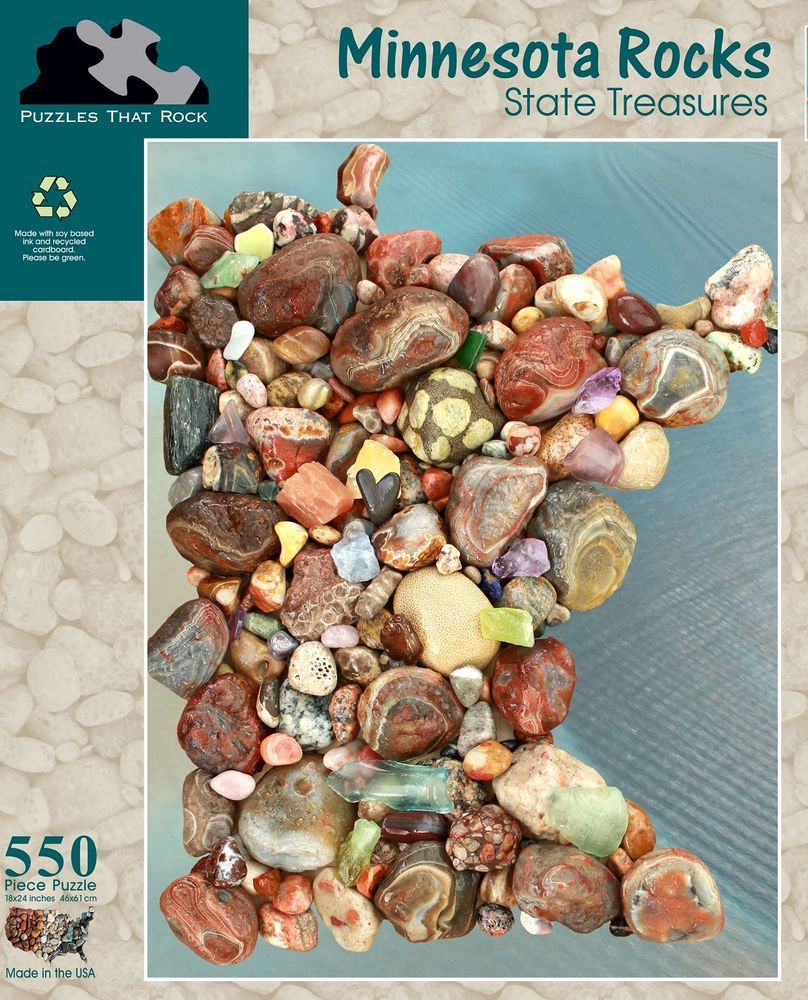 Minnesota Rocks State Treasures Map 550 pc