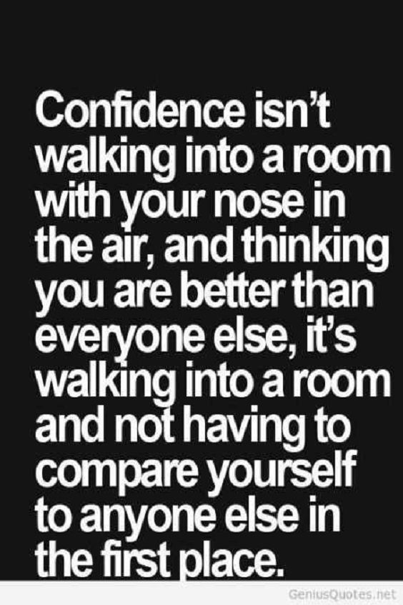 Work on your progress without comparison which will lead you to better confidence! #inspirational #m...