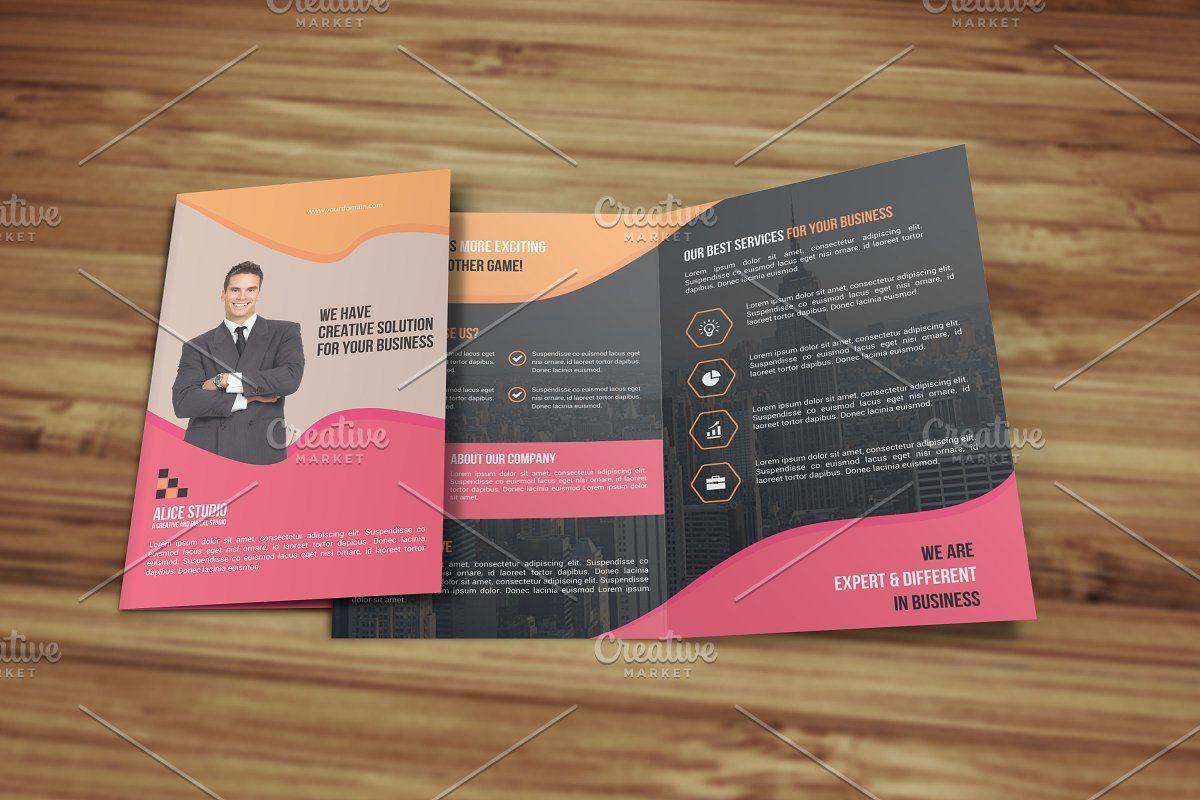 Corporate Bi Fold Brochure Template in 2020 Bi fold