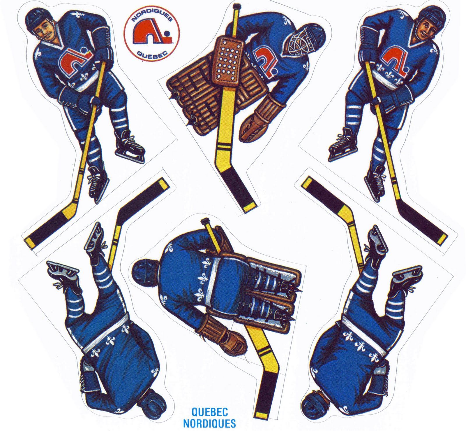 quebec nordiques coleco game stickers nhl hockey table top rh pinterest com