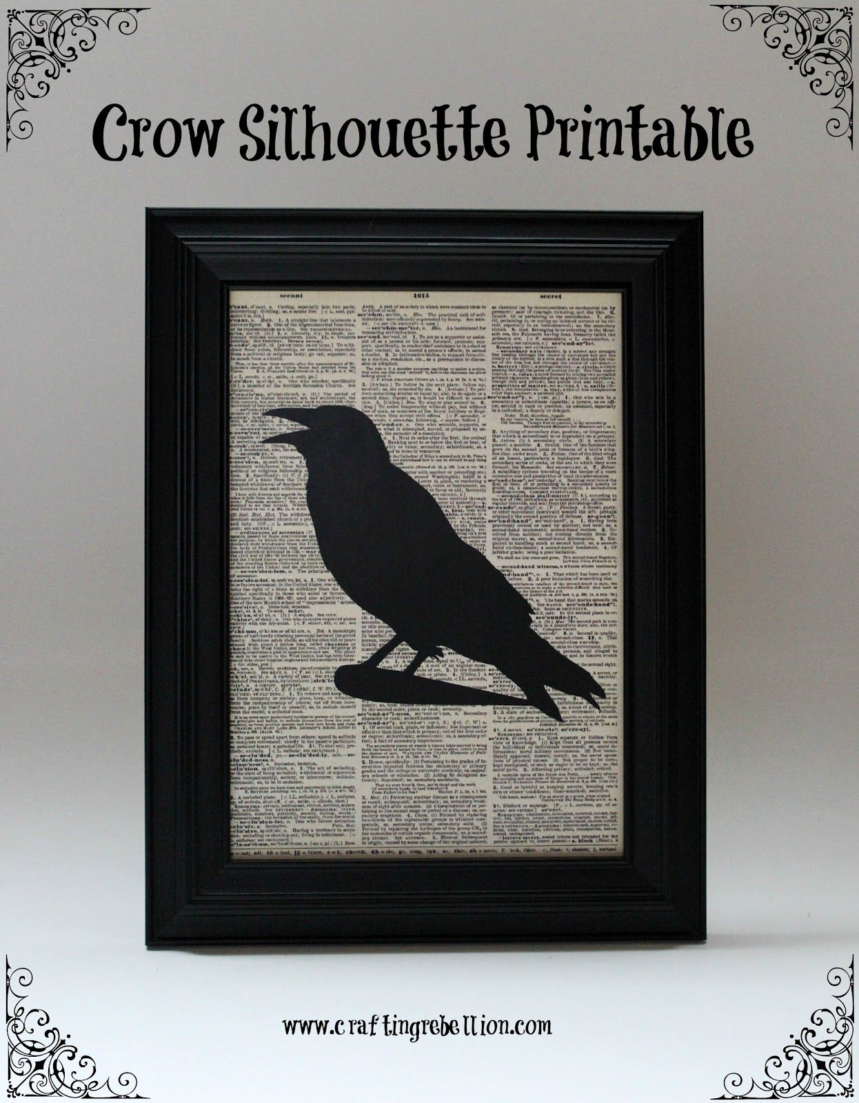 Crafting Rebellion: Crow Silhouette Printable | Halloween | Pinterest