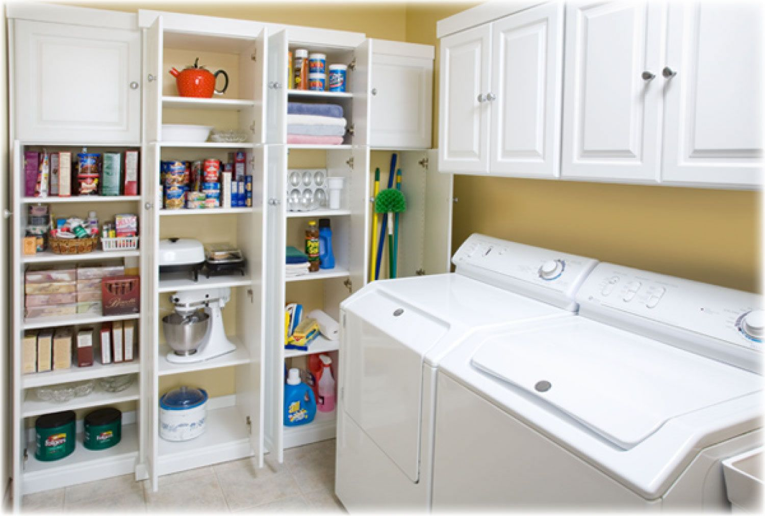 Multiple personalities 10 fantastically flexible spaces Laundry room storage