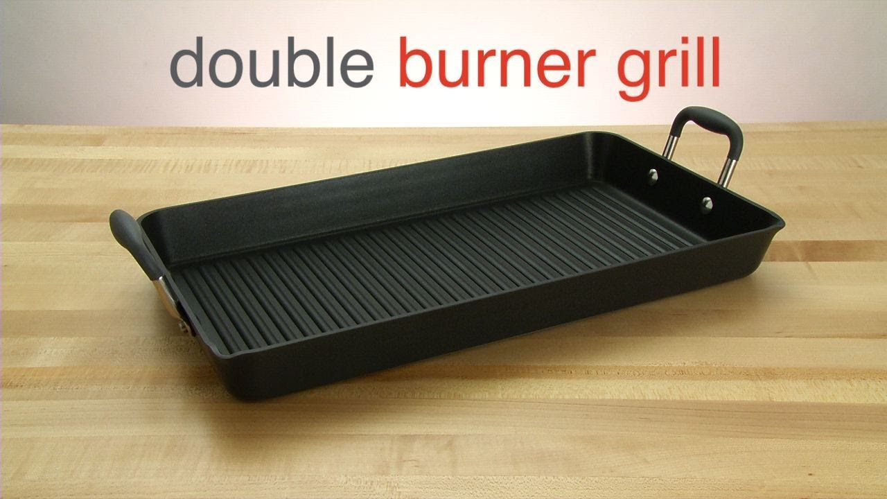 Double Burner Grill Pan a one pan workhorse in your kitchen Just 2