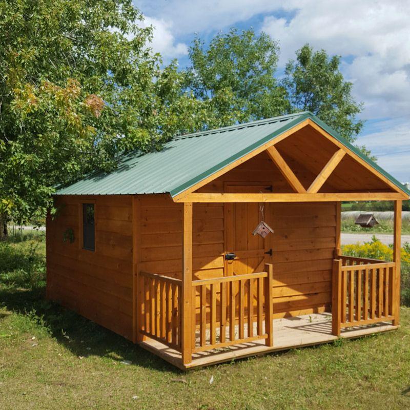 12 x12 economy cabin brooks outdoor sales spencer wi cabins rh pinterest com