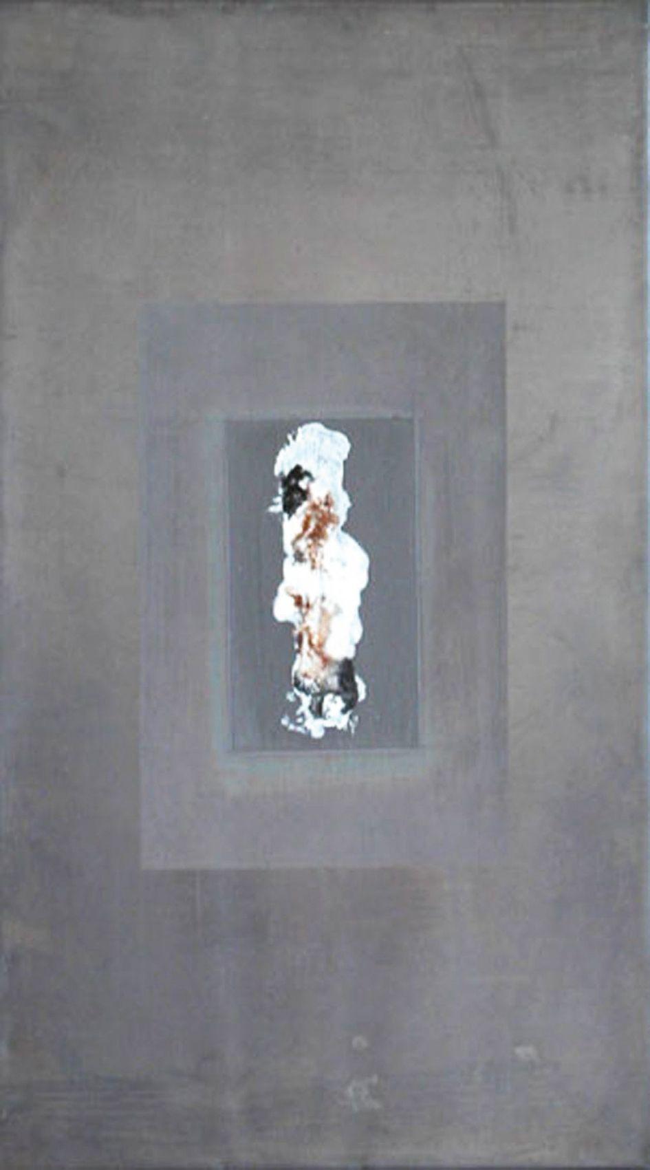 Bleigruppe Teil 3 - Bleibild von Ute Latzke, Mixed Media: Blei, Acryl, MDF-Platte. #blei #lead #art #mixedmedia #graphic