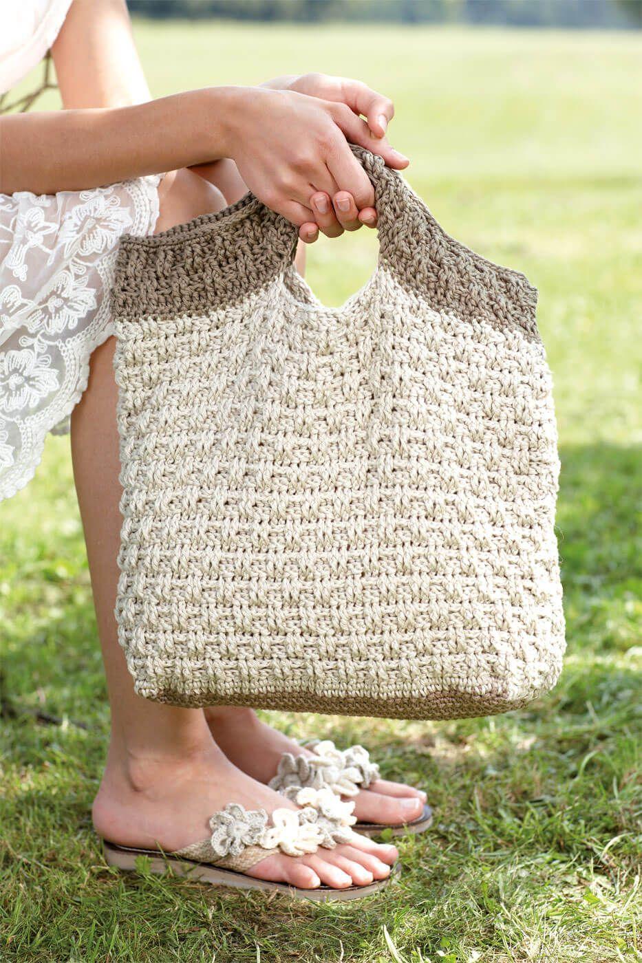 Häkeltasche im Reliefmuster | crochet | Pinterest | Häkeltasche ...