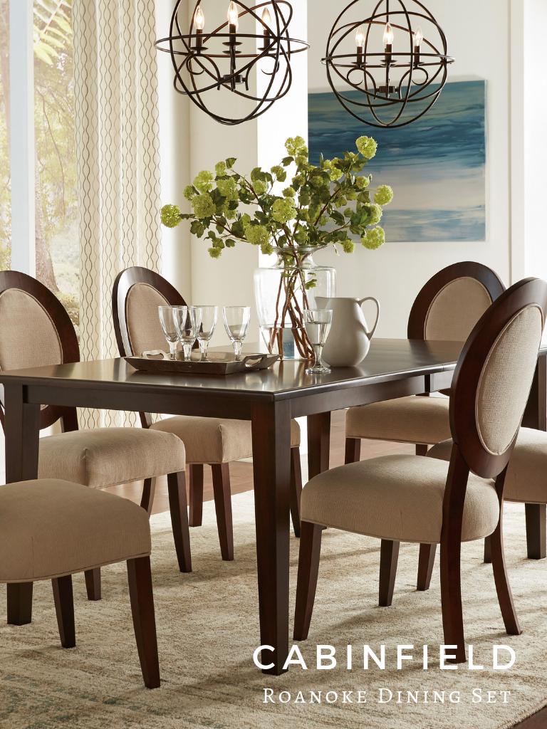 roanoke amish dining room set in 2018 cabinfield amish furniture rh pinterest com