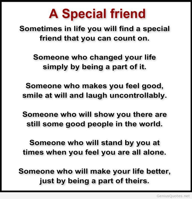 A Special Friend Poem Facebook Special Friend Quotes Friendship
