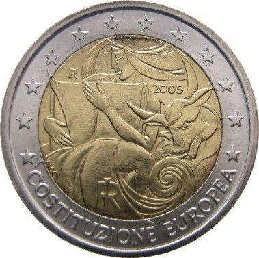"""cd3ab210ac Euro Commemorativo""""1° anniv. Costituzione Europea"""" Anno: 2005 Stato: Italia"""