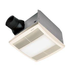 broan 1 5 sone 90 cfm white polymeric bathroom fan with light 188 rh pinterest co uk