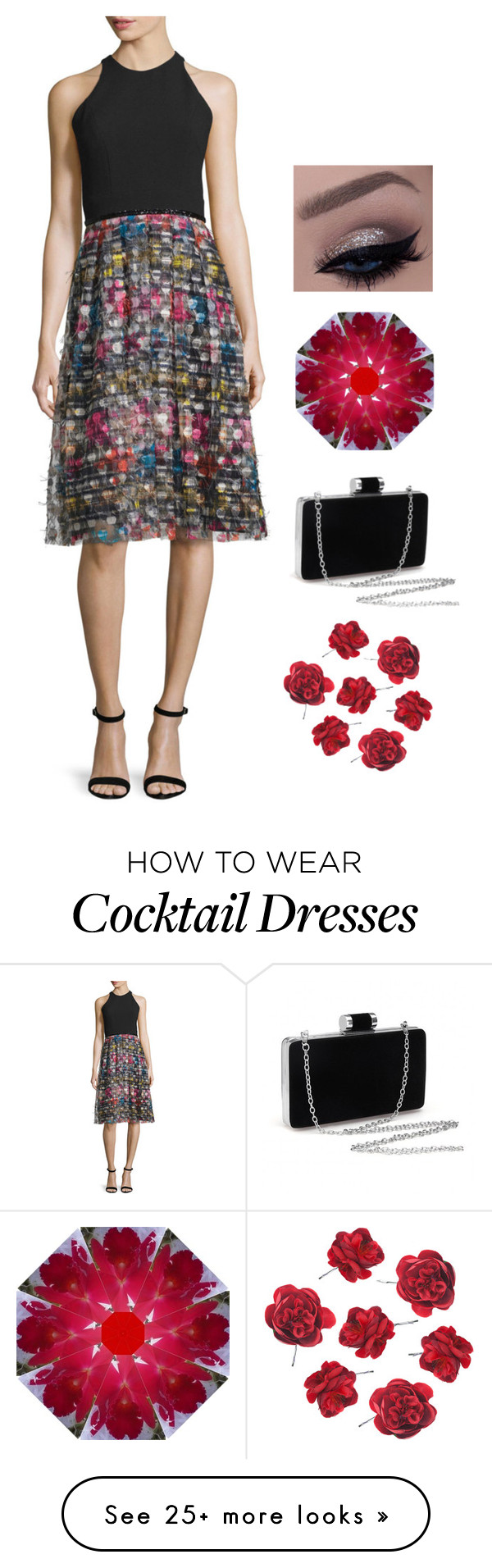 """""""Evening wear for when you're tired of all black"""" by northcoastcottagejewelry on Polyvore featuring Carmen Marc Valvo"""