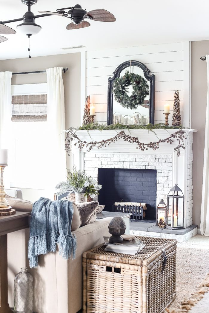 after christmas winter mantel and living room winter christmas rh pinterest com