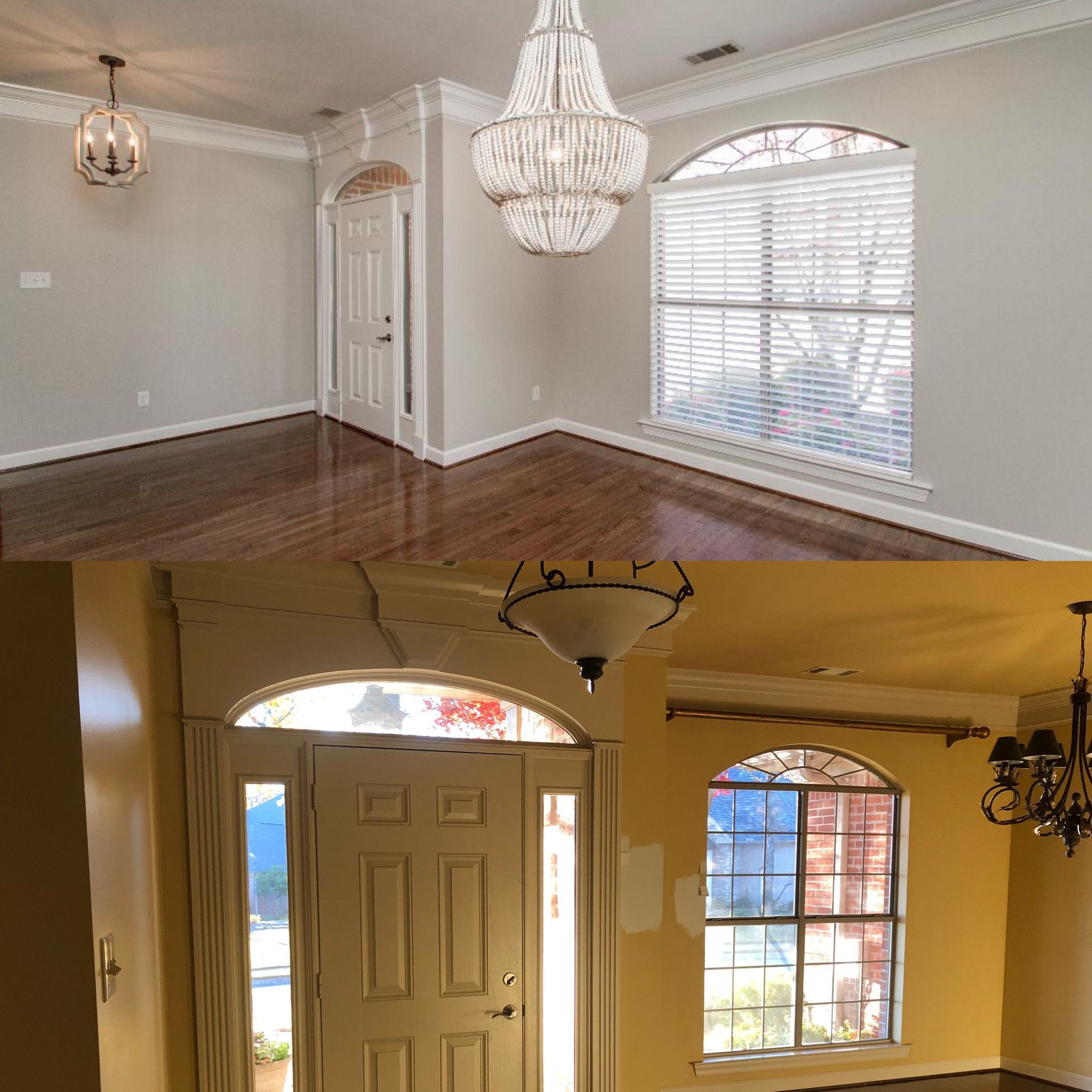Opening Up The Entry Of The Home In This Case Was Mostly Cosmetic New Colors Lighting Fixtures And Additional Light Home Renovation Trendy Home Bars For Home