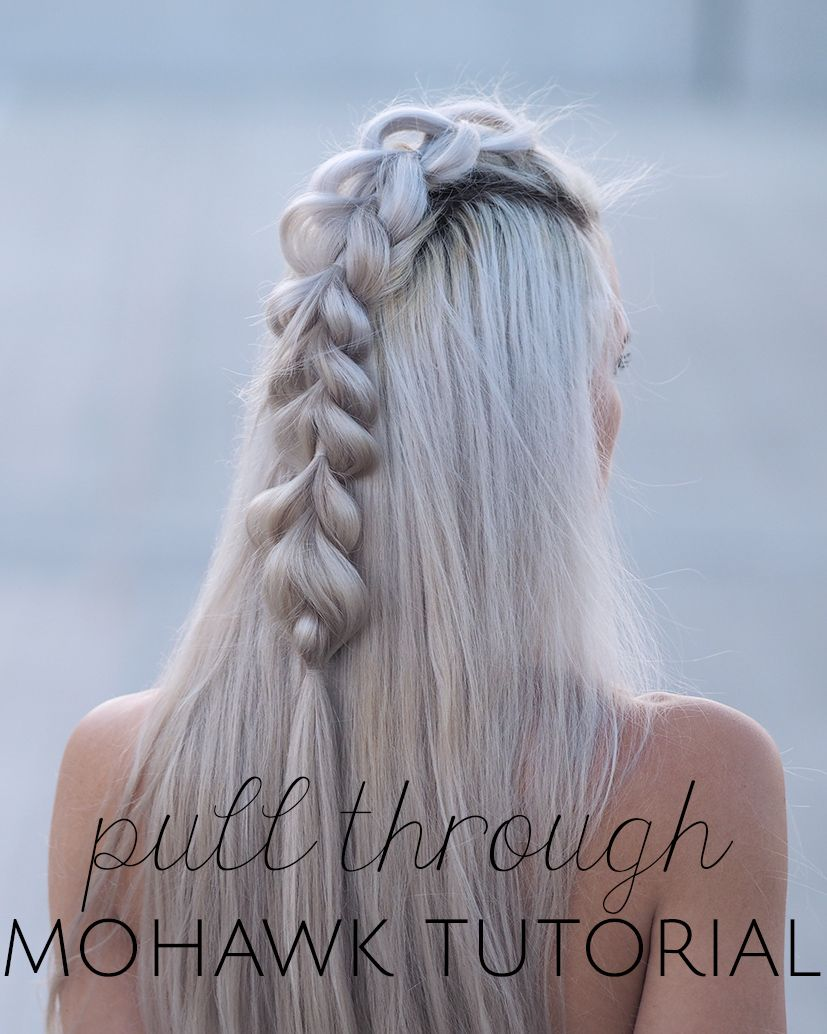 pull through mohawk tutorial silver hair beauty. Black Bedroom Furniture Sets. Home Design Ideas