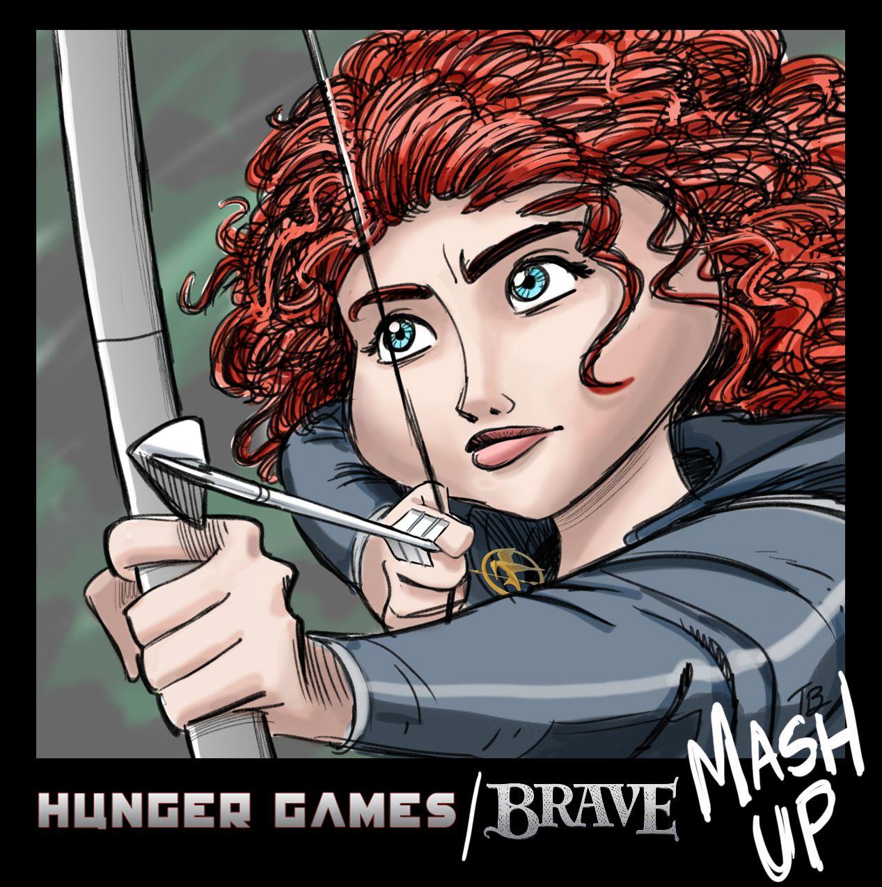 Disney Pixar Brave meets Hunger Games Katniss vs Princess Merida ...