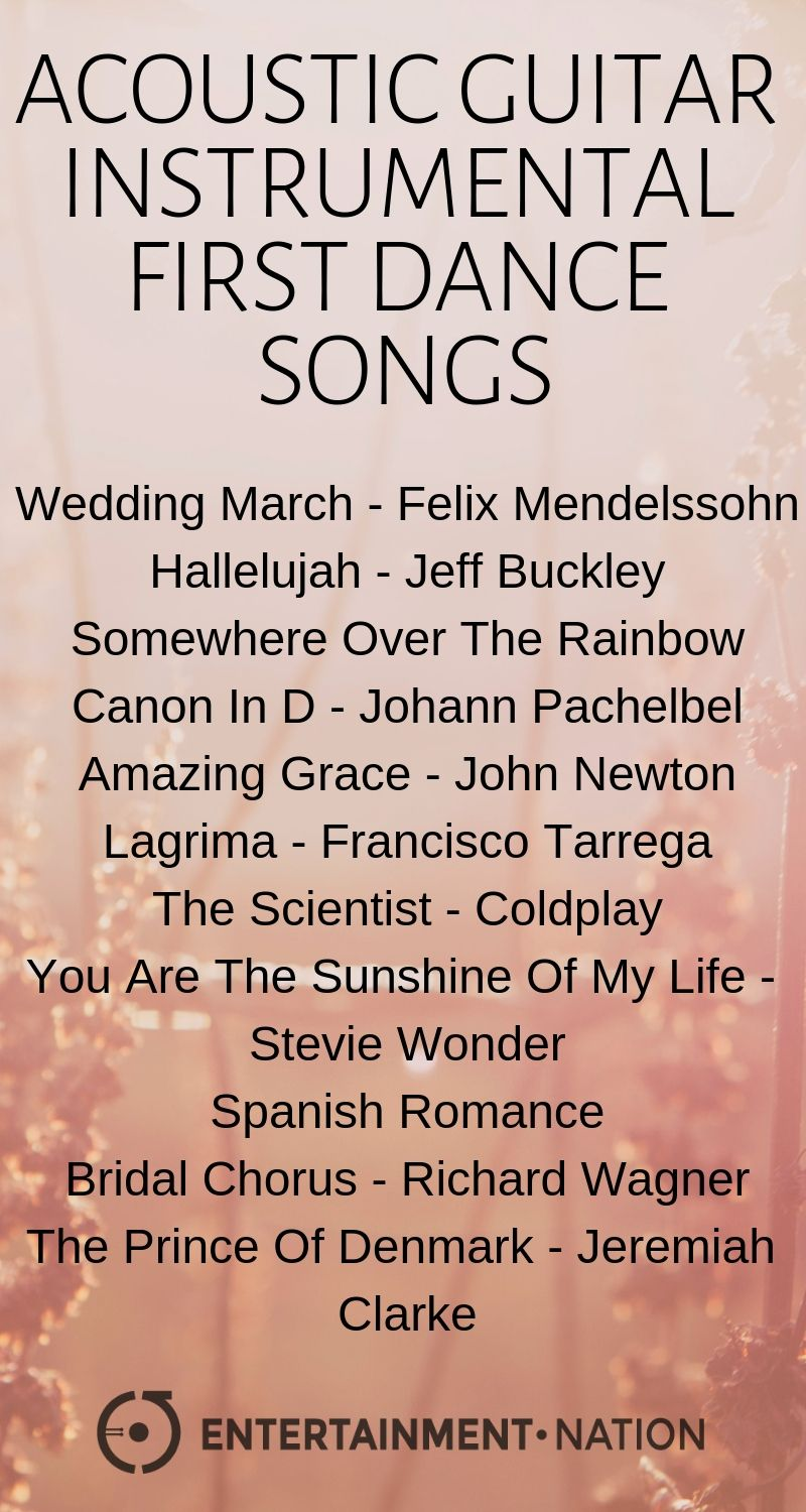 100 Romantic Acoustic Guitar Wedding Ceremony Songs Entertainment Nation Instrumental Wedding Songs Wedding Ceremony Songs Ceremony Songs