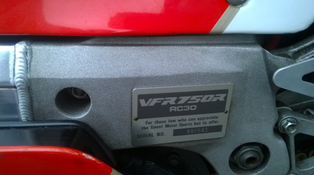 Honda VFR750R RC30 for sale in Cork on DoneDeal in 2020